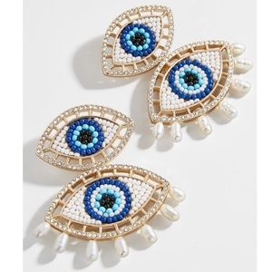 Baublebar Blanca Evil Eye Statement Earrings